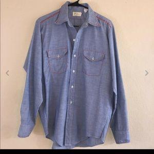 Men's Vintage LL Bean Chambray Embroidery Shirt